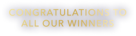 Congratulations to all our winners!